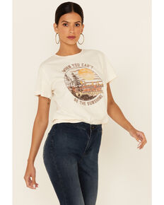 Blended Women's Ivory Find The Sunshine Graphic Short Sleeve Tee , Ivory, hi-res