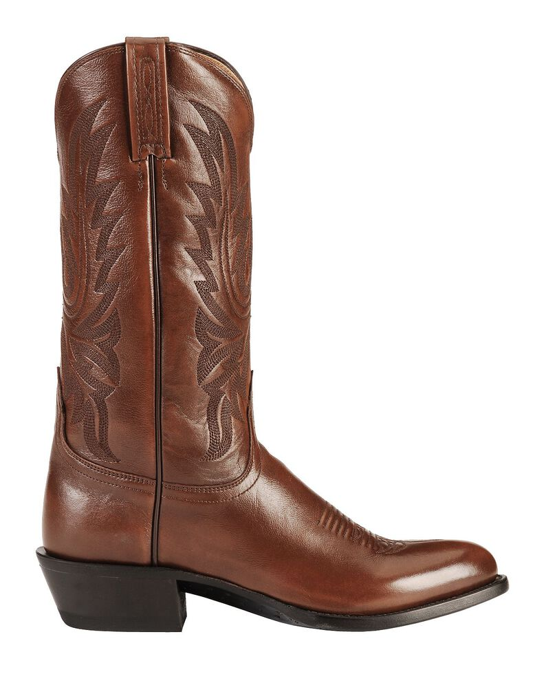 Lucchese Handmade Lonestar Calf Cowboy Boots - Medium Toe, Brown, hi-res
