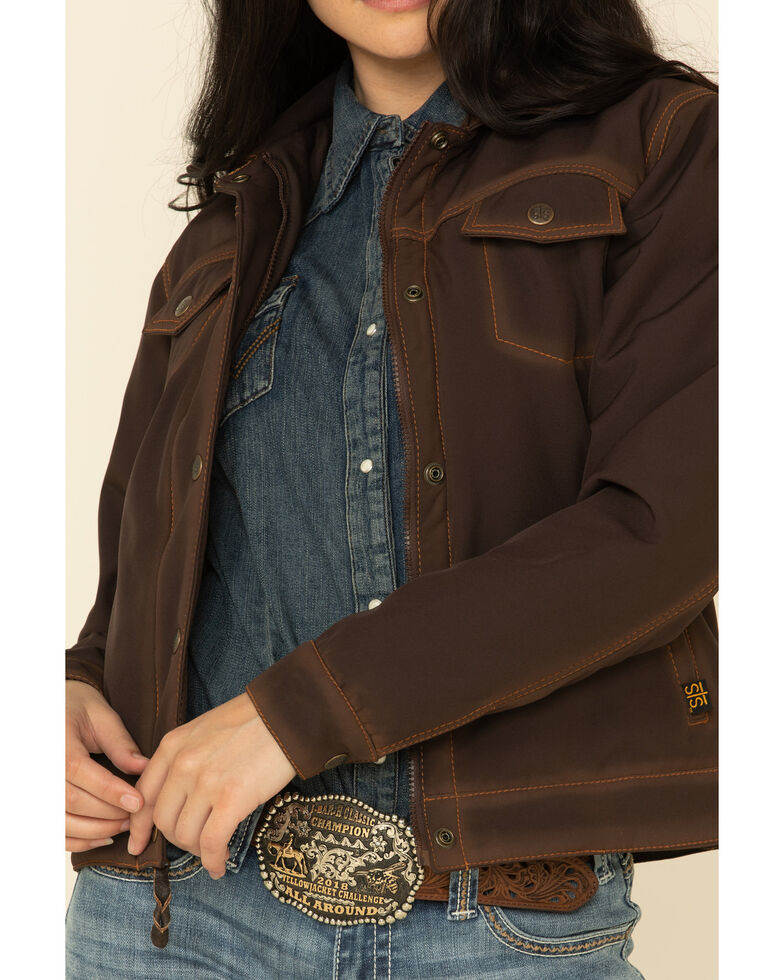 STS Ranchwear Women's Brown Brumby Softshell Jacket , Brown, hi-res