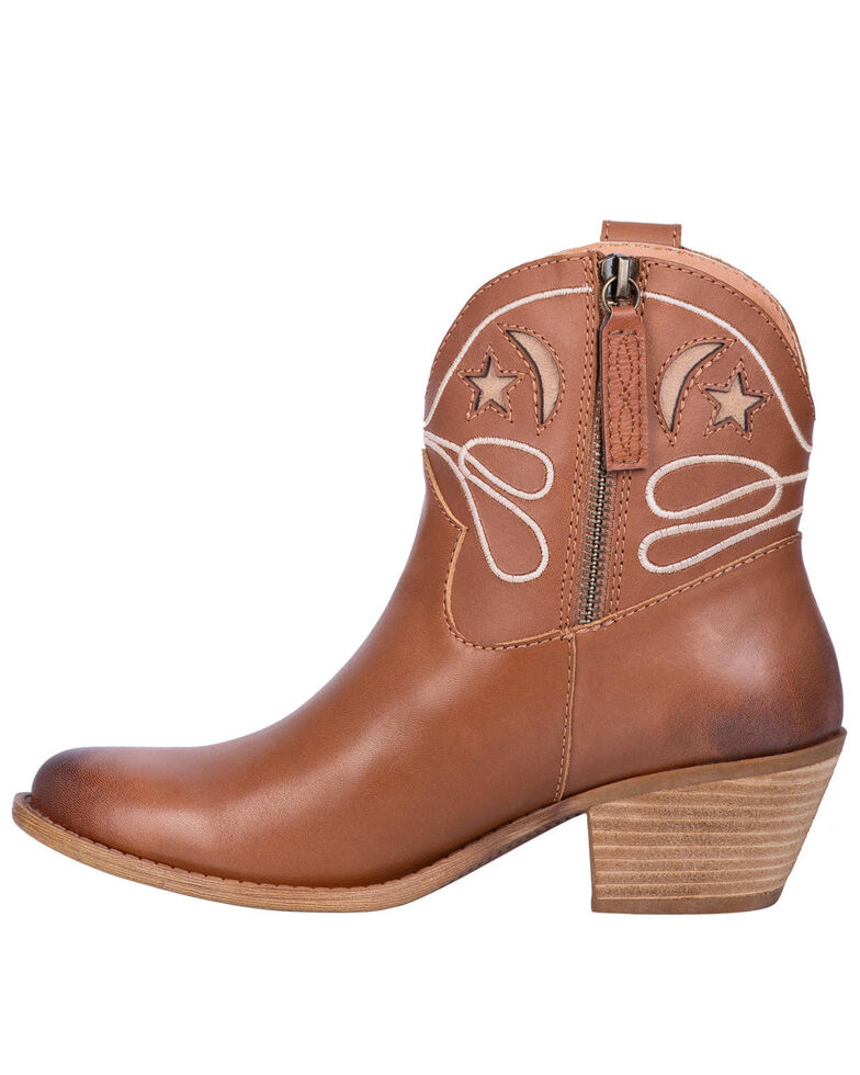 Dingo Women's Urban Cowgirl Western Booties - Round Toe, Brown, hi-res