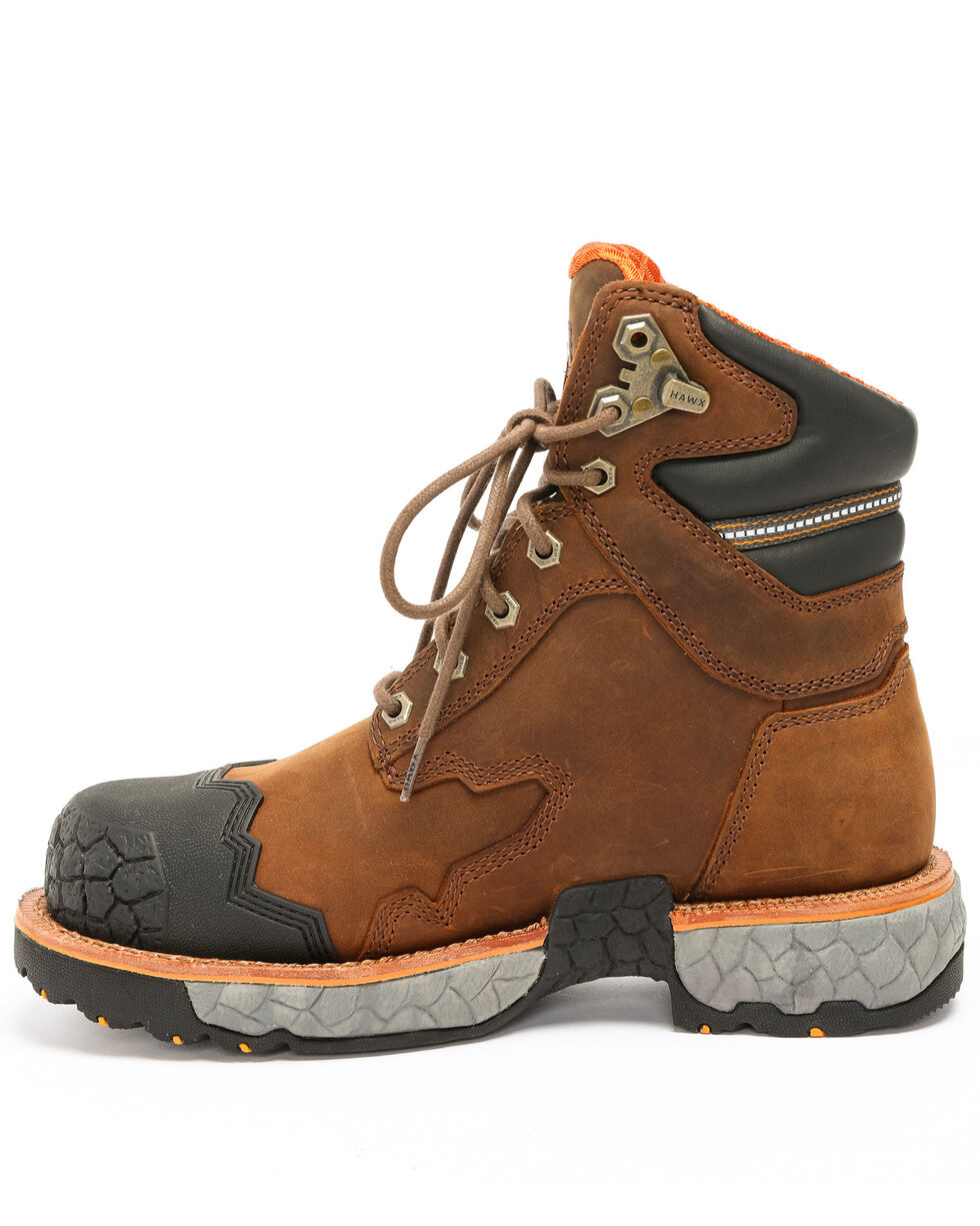 Hawx® Men's Legion Work Boots - Steel Toe, Brown, hi-res