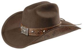 Bullhide Great Divide Wool Cowgirl Hat, Brown, hi-res