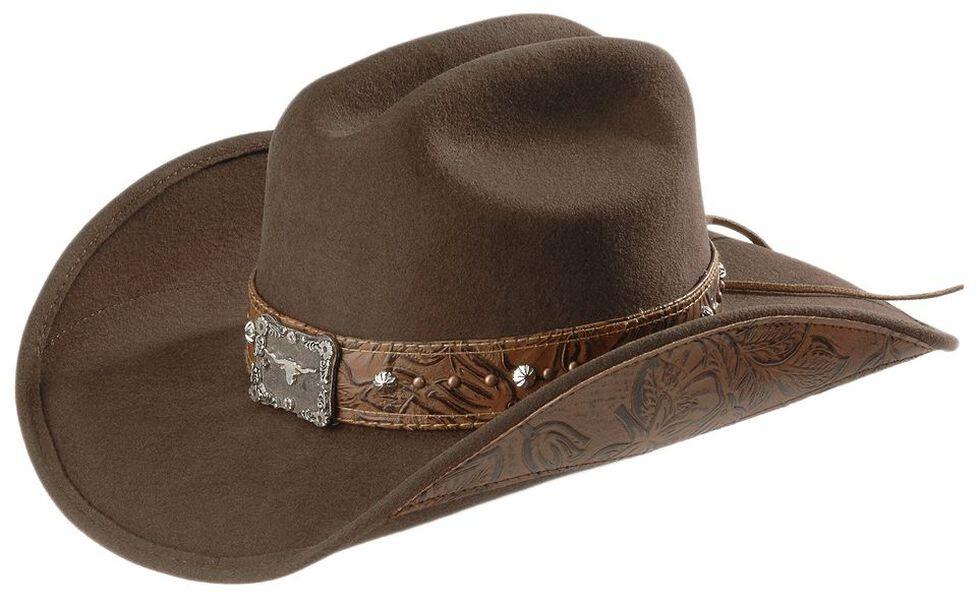 c5ea974b23c7f5 Zoomed Image Bullhide Great Divide Wool Cowgirl Hat, Brown, hi-res