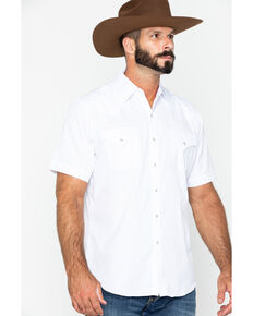 Ely Cattleman Tonal Dobby Striped Western Shirt, White, hi-res