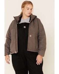 Carhartt Women's Grey Full Swing Caldwell Duck Jacket - Plus, Charcoal, hi-res