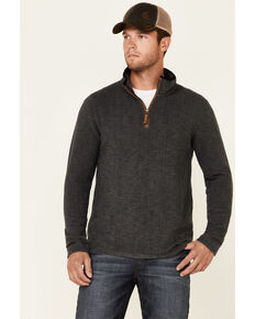 Dakota Grizzly Men's Charcoal Dash 1/4 Zip Heathered Pullover , Charcoal, hi-res