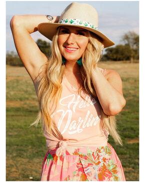 Ali Dee Women's Peach Hello Darlin' Tank Top, Peach, hi-res