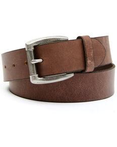 Hawx Men's Plain Roller Buckle Work Belt, Brown, hi-res