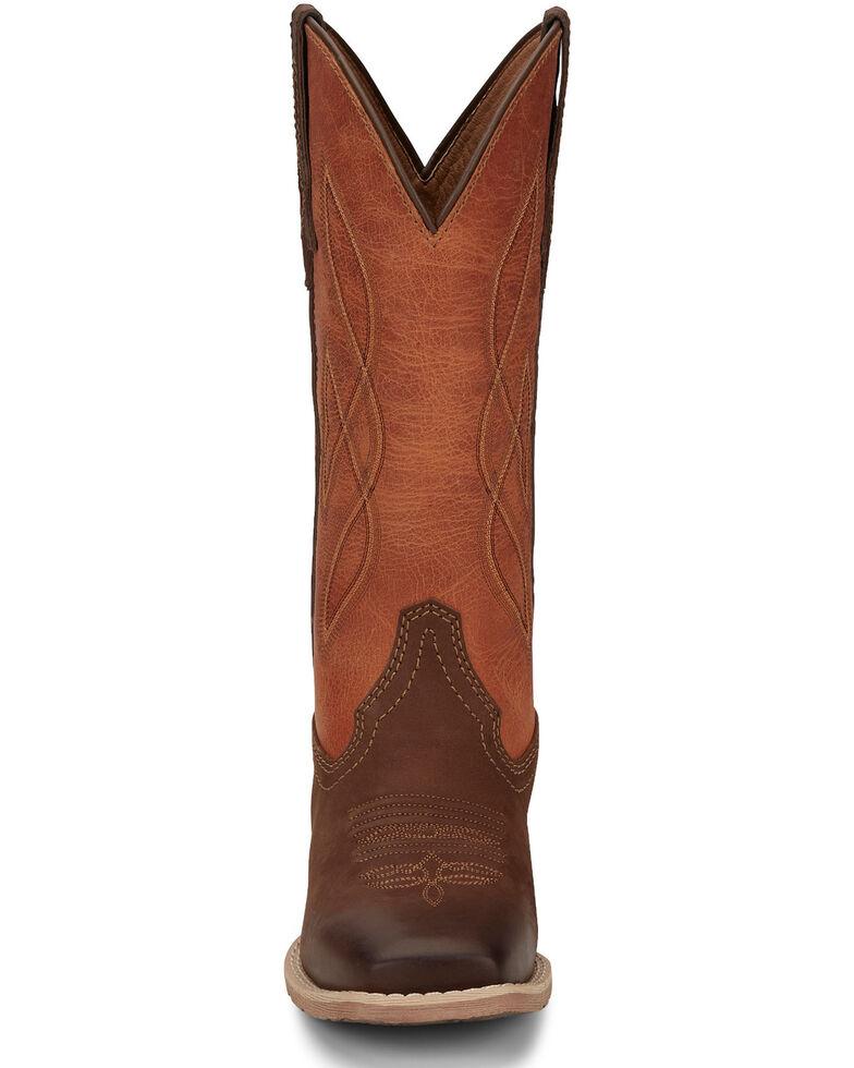 Justin Women's Breakaway Moka Western Boots - Wide Square Toe, Tan, hi-res