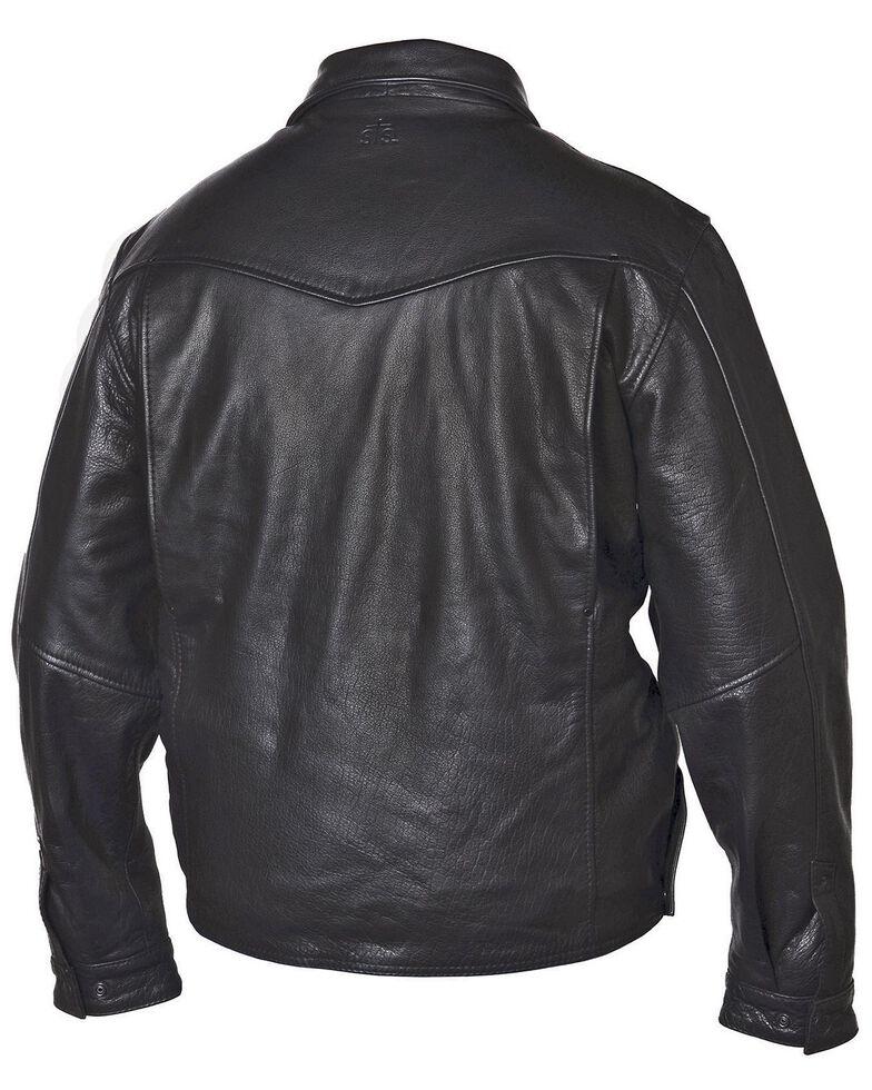 STS Ranchwear Men's Rifleman Black Leather Jacket - Big & Tall - 4XL, Black, hi-res
