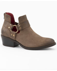 Ferrini Women's Crush Fashion Booties - Round Toe, Brown, hi-res