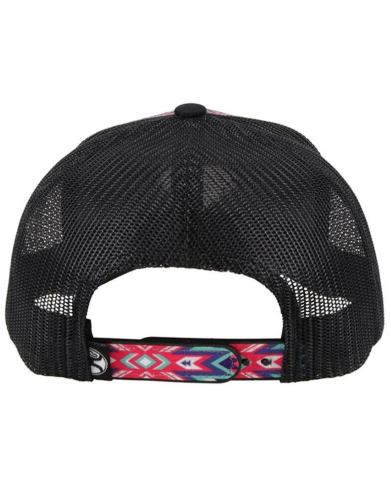 HOOey Women's Rope Like A Girl Aztec Print Mesh-Back Ball Cap , Multi, hi-res