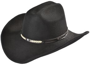 Outback Trading Co. Out Of The Chute UPF50 Sun Protection Crushable Hat, Black, hi-res