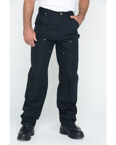 Carhartt Double Duck Dungaree Fit Khaki Work Jeans - Big, Black, hi-res
