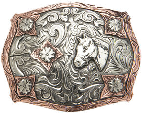 """AndWest Vintage """"Stanton"""" Two-Tone Horse Head Buckle, Two Tone, hi-res"""