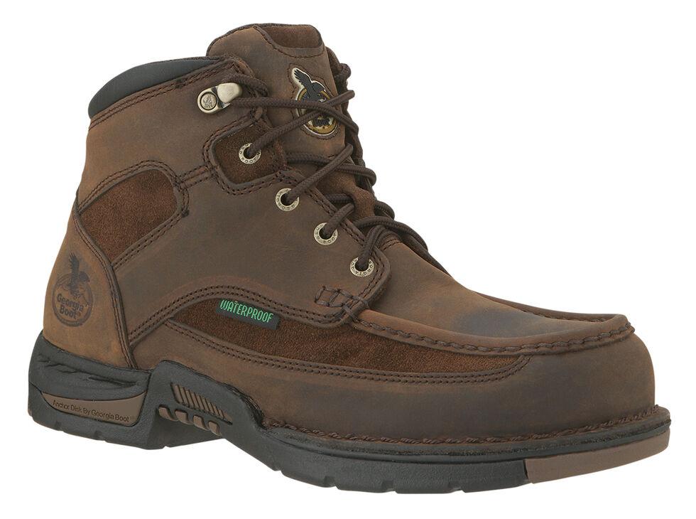 Georgia Athens Waterproof Work Boot - Moc Toe, Brown, hi-res