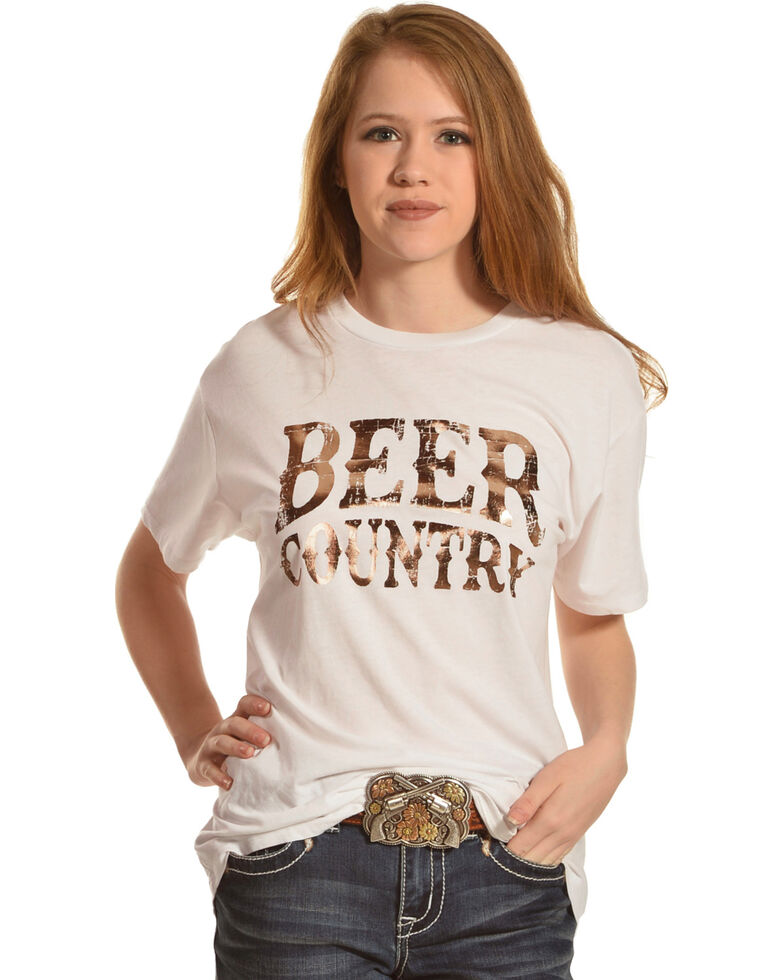 IOC Women's Beer Country Short Sleeve T-Shirt, White, hi-res