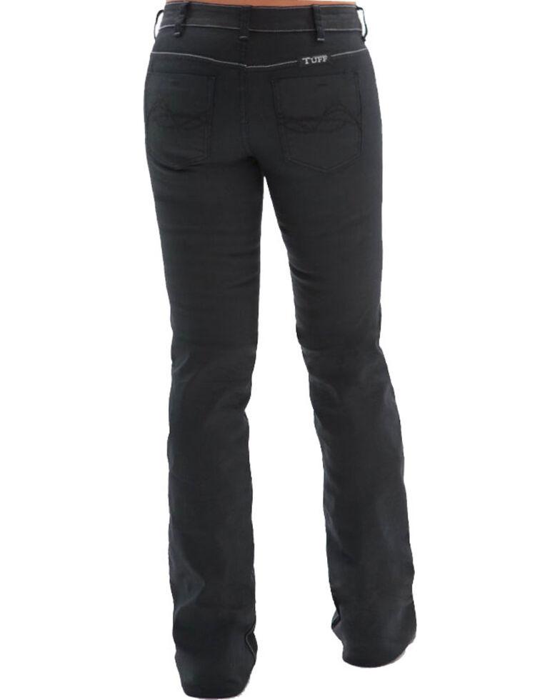 Cowgirl Tuff Women's Blackout Black Boot Cut Jeans, Black, hi-res