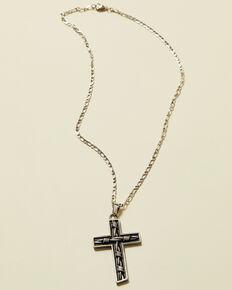 Moonshine Spirit Men's Barbed Wire Cross Necklace , Silver, hi-res