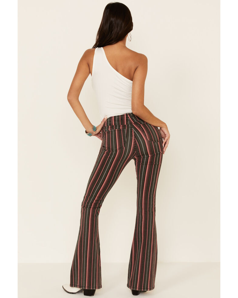 Rock & Roll Denim Women's Striped Bargain Bell Bottoms, Multi, hi-res