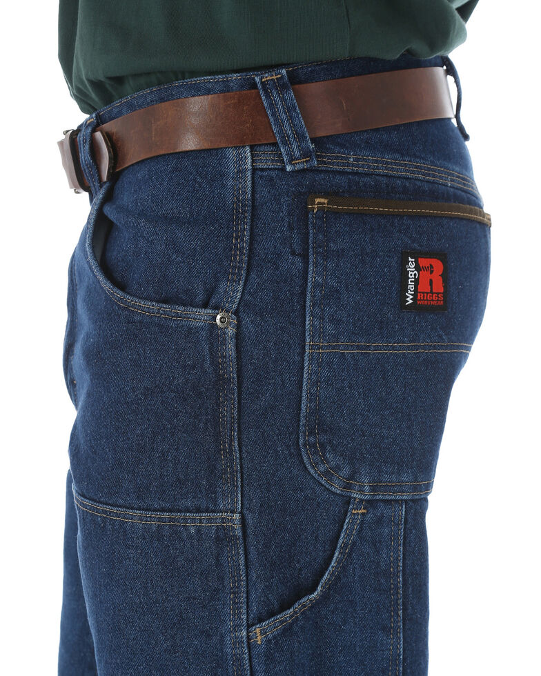 Wrangler Riggs Men's Relaxed Fit Utility Work Jeans - Big , Navy, hi-res