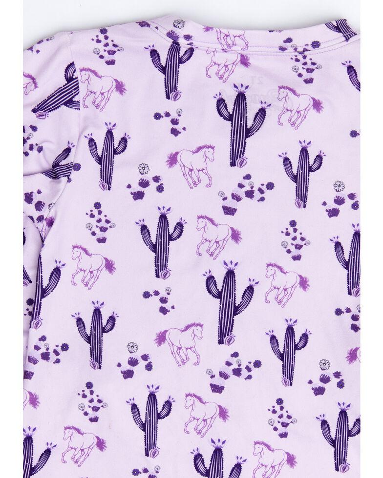 Cowgirl Hardware Purple Infant Girls Horses Cacti Print Playset , Purple, hi-res
