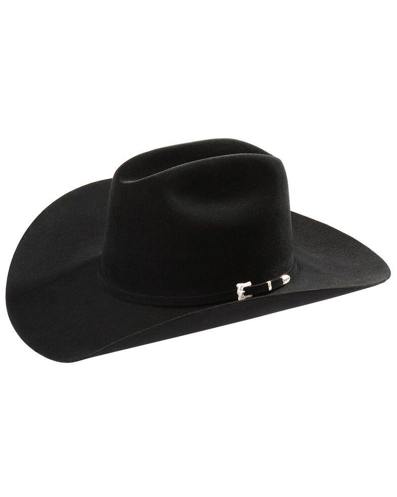 Resistol Black Gold Low Crown 20X Fur Felt Cowboy Hat, Black, hi-res