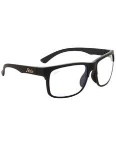 Hobie Men's Huntington Satin Black & Blue Unentrapped Blocking Lens Polarized Sunglasses, Black, hi-res