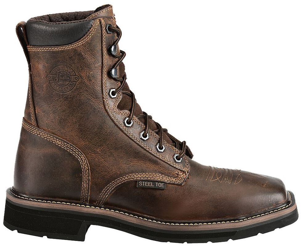 Justin Men S Stampede Pulley 8 Quot Lace Up Work Boots Steel