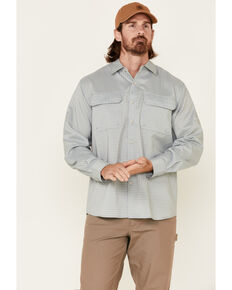North River Men's Solid Sage Utility Outdoor Long Sleeve Button-Down Western Shirt , Green, hi-res