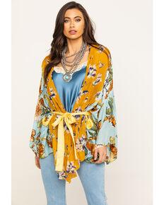 Aratta Women's Floral Sky Kimono, Multi, hi-res