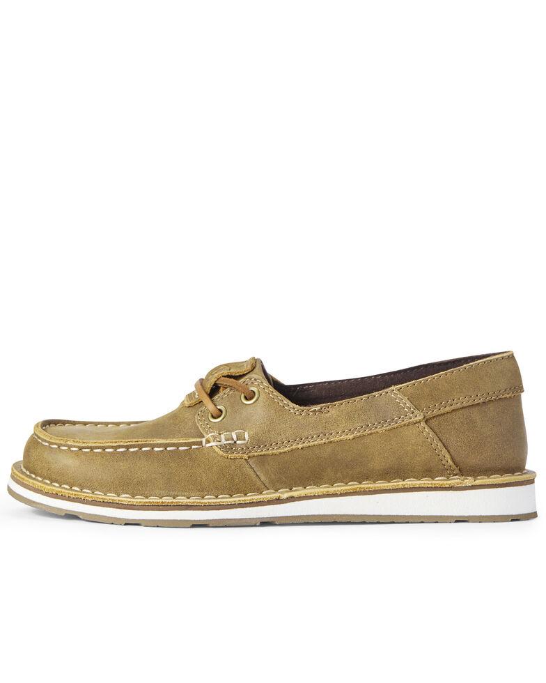 Ariat Women's Castaway Cruiser Shoes - Moc Toe, Brown, hi-res