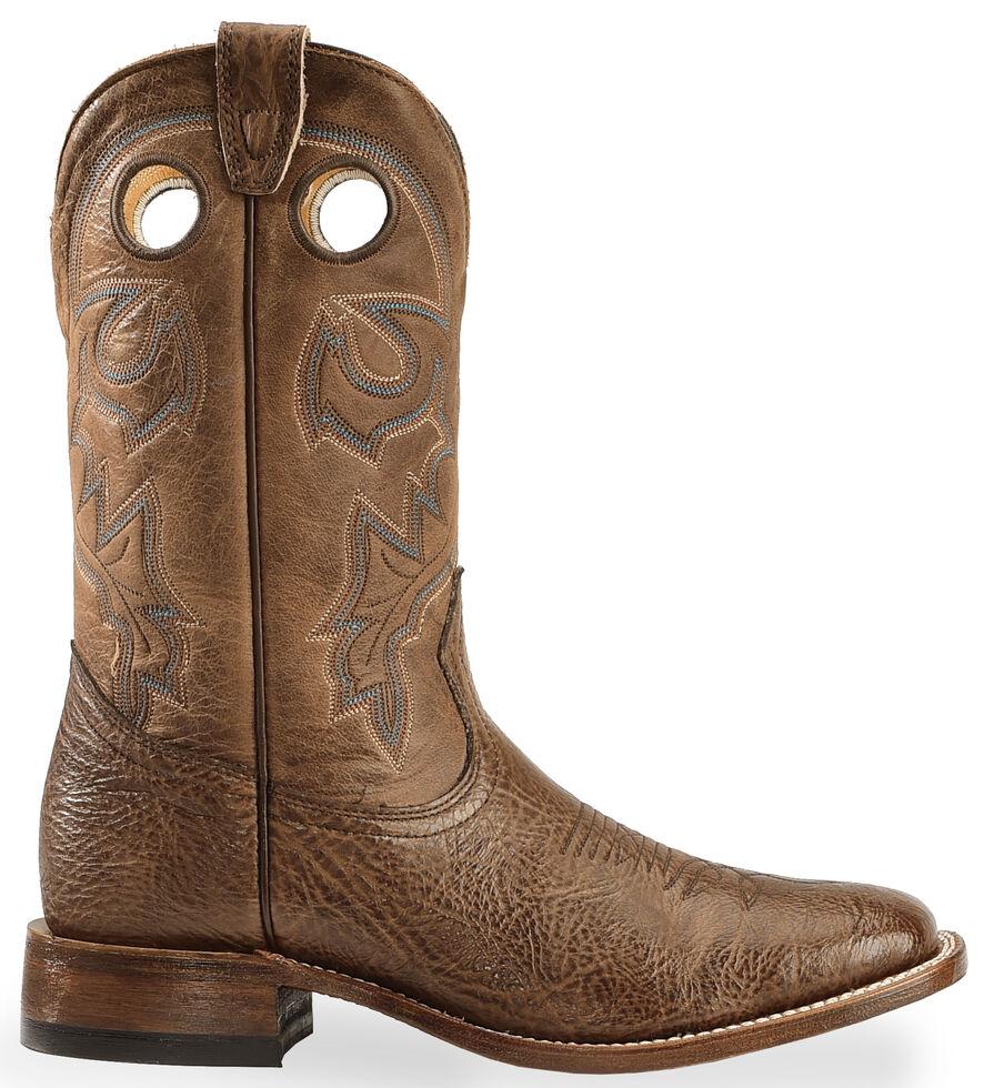 Boulet Men's Stockman Cowboy Boots - Wide Square Toe, Dark Brown, hi-res