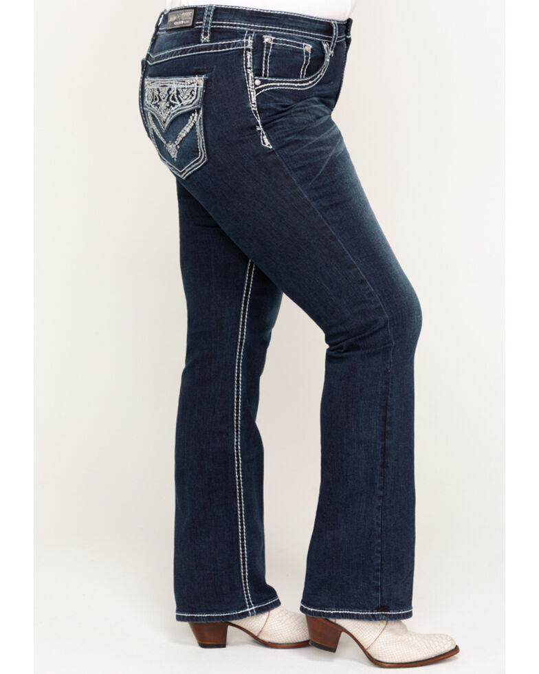 Grace in LA Women's Dark Wash Bootcut Jeans, Blue, hi-res