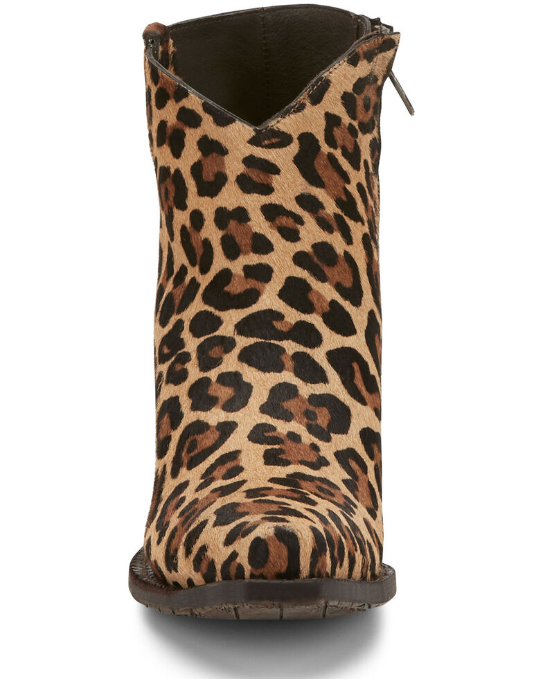 Tony Lama Women's Anahi Wildcat Fashion Booties - Snip Toe, Leopard, hi-res