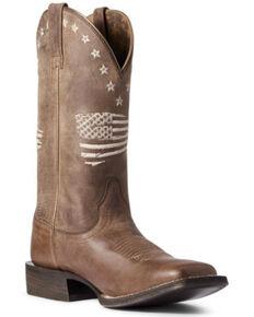 Ariat Women's Circuit Patriot Western Boots - Square Toe, Brown, hi-res