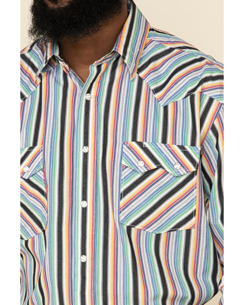 Rough Stock By Panhandle Men's Rockland Classic Striped Long Sleeve Western Shirt , Multi, hi-res