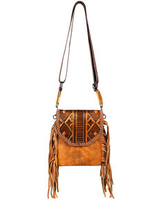 Montana West Women's Ellie Embossed Crossbody Bag, Brown, hi-res