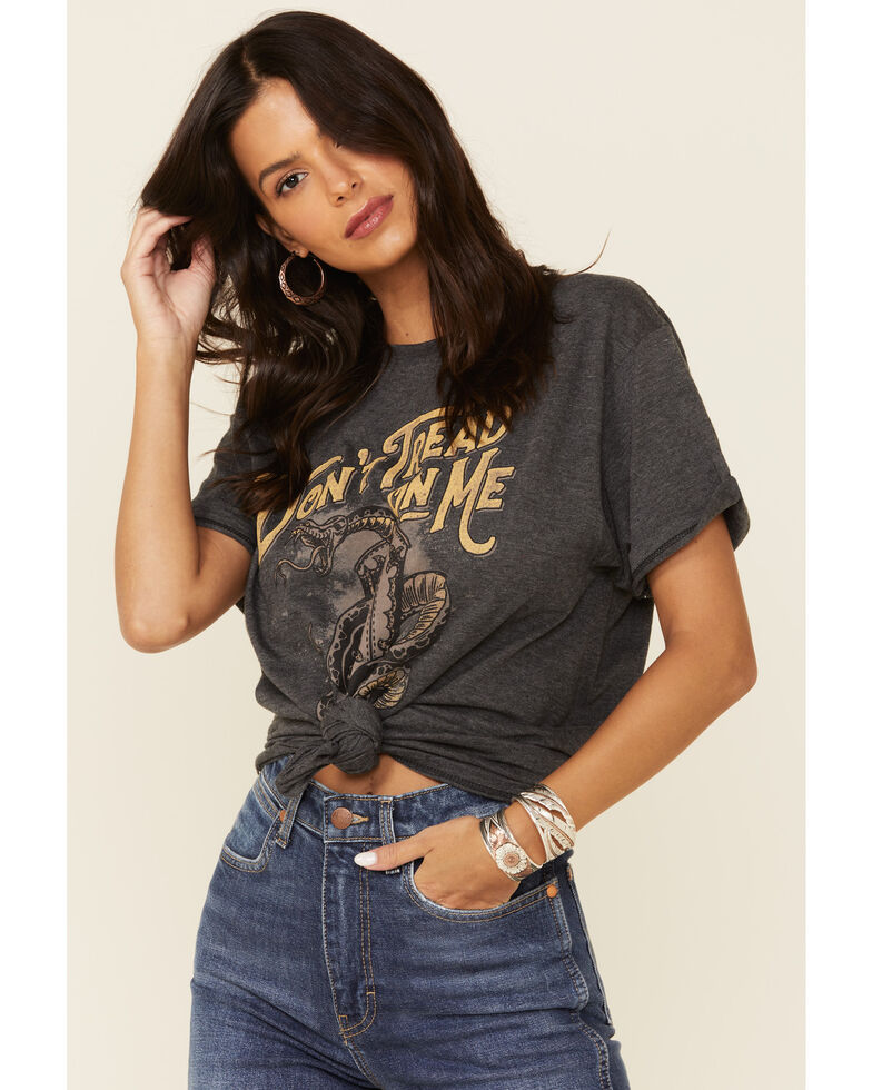 American Highway Women's Don't Trend On Me Graphic Tee , Charcoal, hi-res