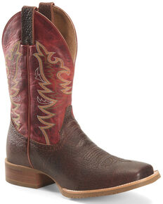 Double H Men's Clifton Western Work Boots - Steel Toe, Chocolate, hi-res
