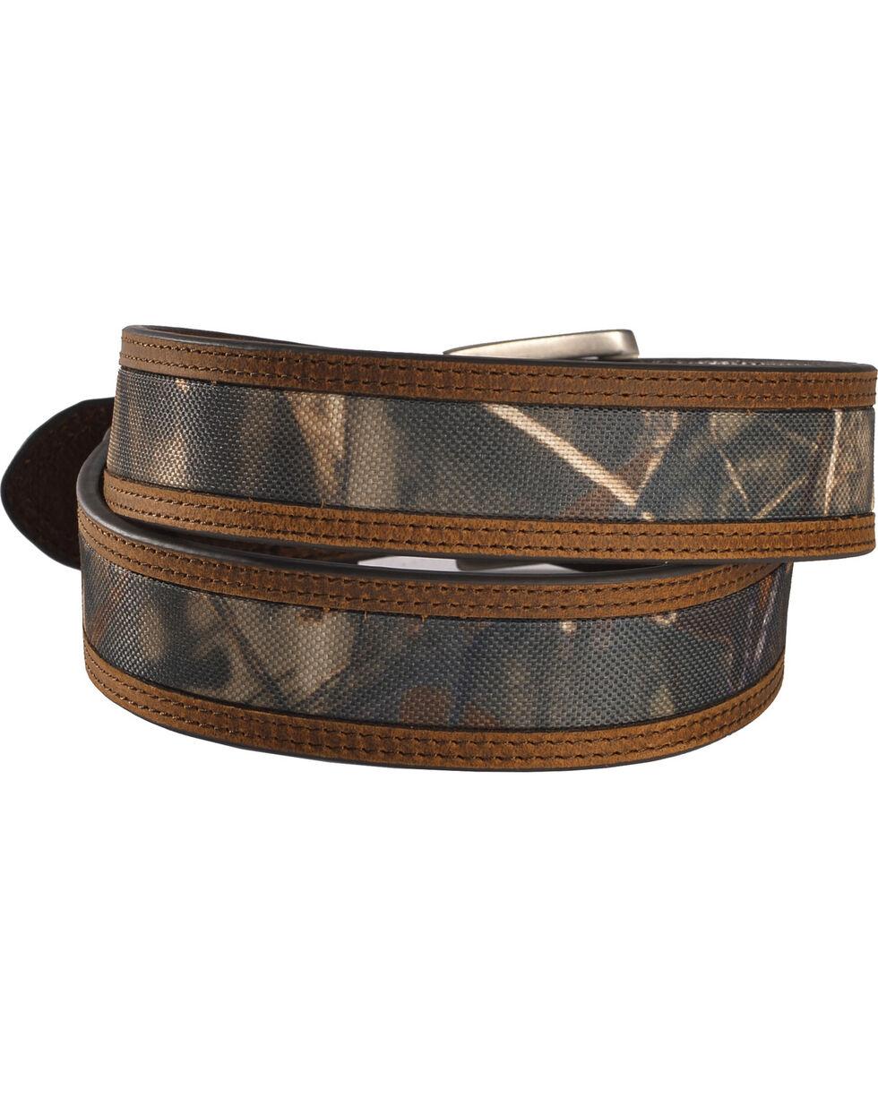 American Worker Men's Mossy Oak Fabric Belt , Camouflage, hi-res