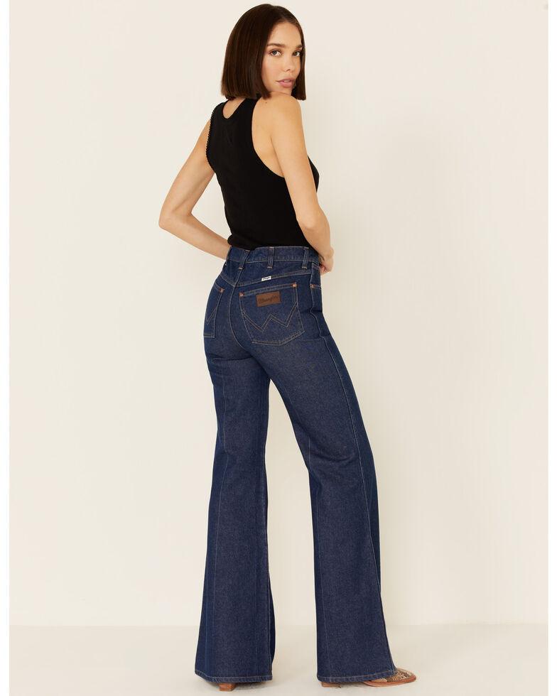 Wrangler Modern Women's Seamed Flare Jeans, Blue, hi-res