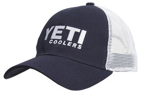 YETI Coolers Men's Traditional Trucker Cap, Navy, hi-res