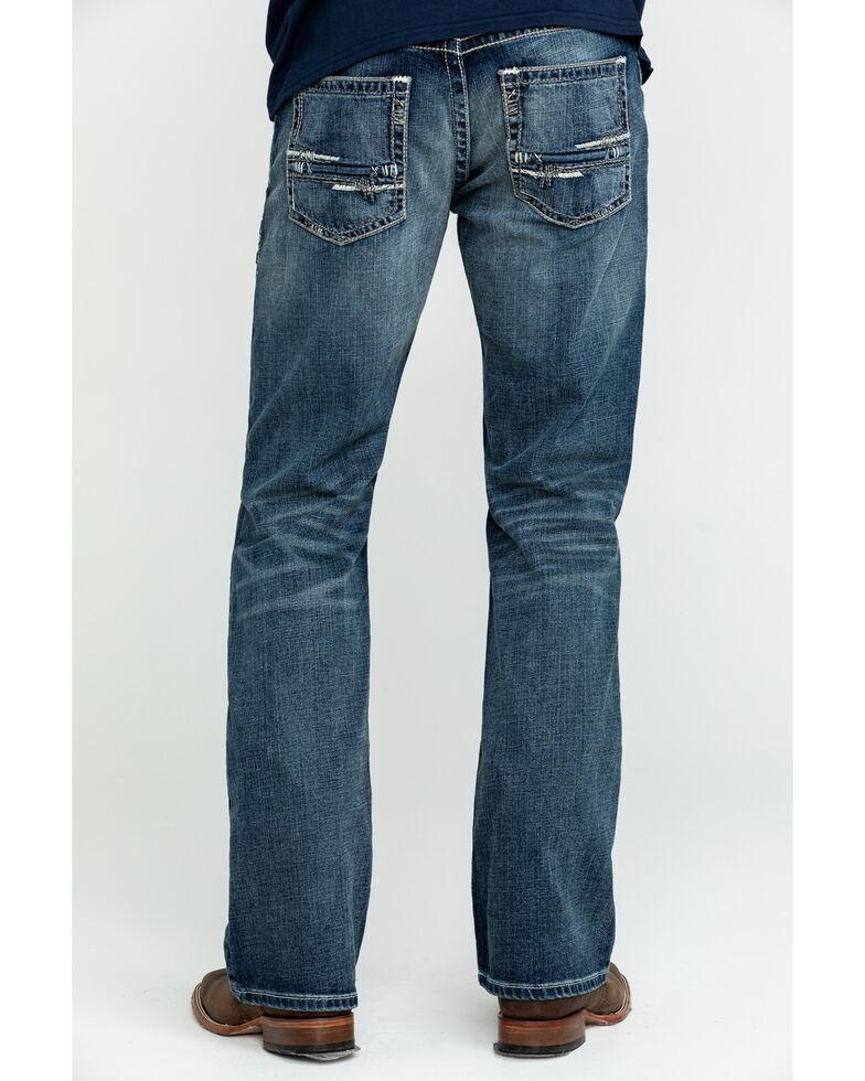 Ariat Men's M5 Lennox Stretch Slim Bootcut Jeans , Blue, hi-res