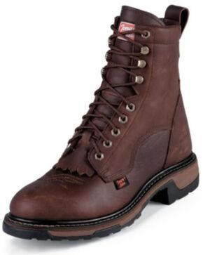 "Tony Lama Waterproof Pitstop 8"" Lace-Up Boots, Briar, hi-res"