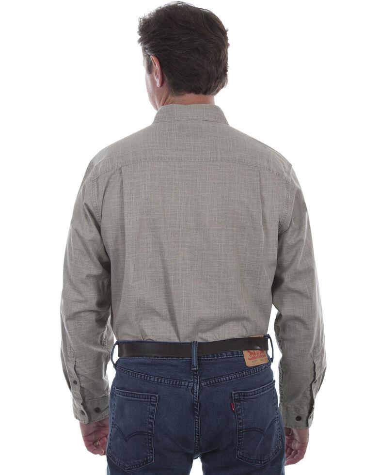 Scully Men's Vintage Slub Long Sleeve Shirt, Brown, hi-res