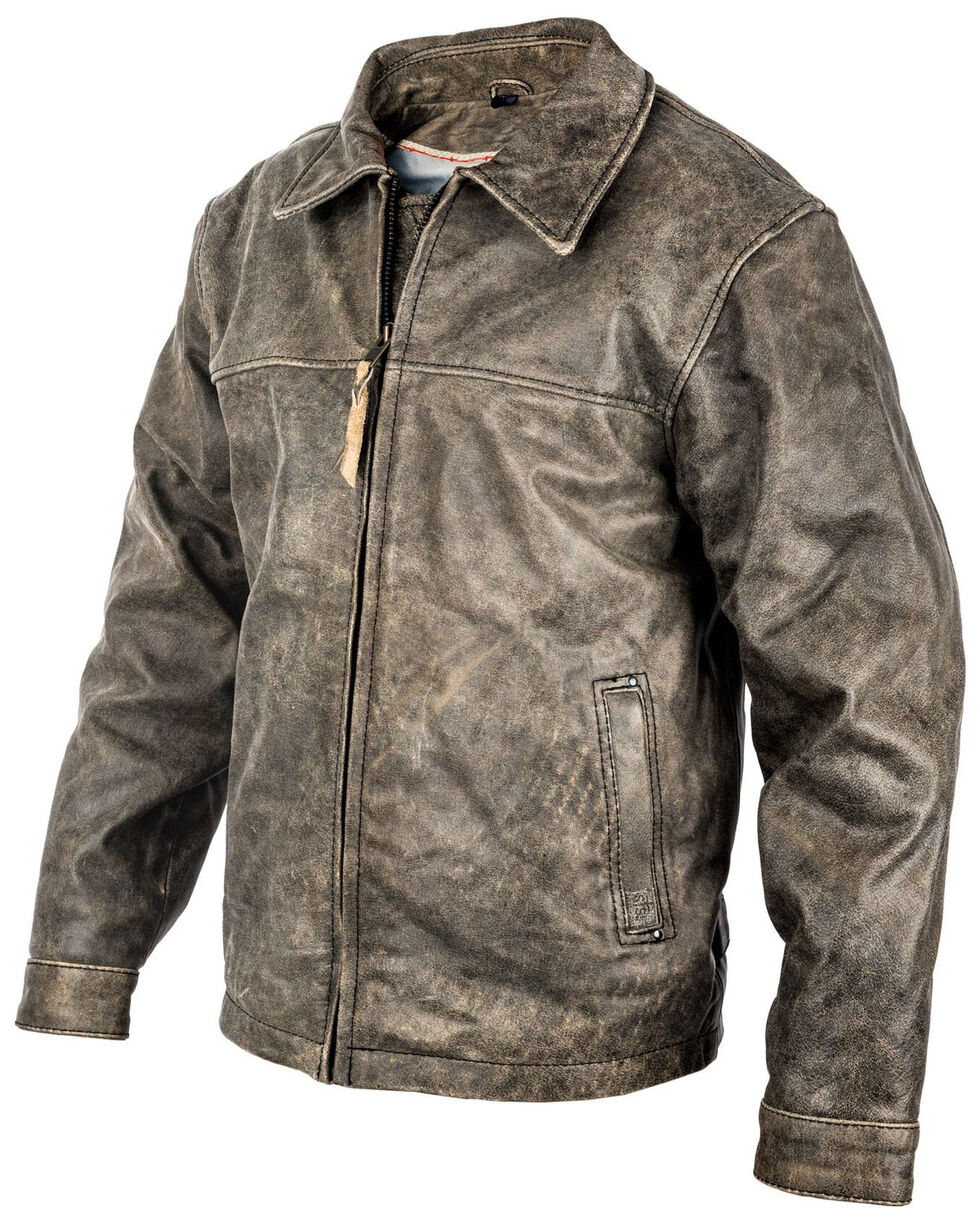 STS Ranchwear Boys' Black Youth Rifleman Leather Jacket , Brown, hi-res