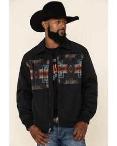 Pendleton Men's Black Buffalo Gap Jacquard Print Insulated Jacket , Black, hi-res
