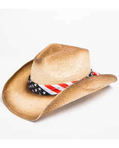 Cody James Men's Stars & Stripes Cowboy Hat, Tan, hi-res