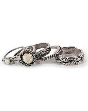 Shyanne Women's Stacked Ring Set, Silver, hi-res